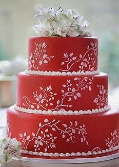 See more about wedding cake designs, red wedding cakes and colorful wedding cakes. Gorgeous Cakes, Pretty Cakes, Amazing Cakes, Wedding Cake Red, Wedding Cake Designs, Red Cake, Occasion Cakes, Fancy Cakes, Cake Creations