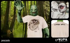http://www.facebook.com/UtopiaLux Unusual tshirt design. #swamp #tshirt #monster #high #five #design #lookbook #sick #funny #utopia #marihuana #joint #fish #Nipple