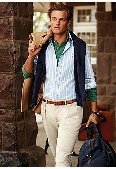 Polo Ralph Lauren Classic-Fit Striped Oxford Shirt #Belk #Men