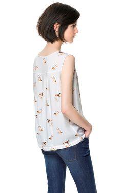 Building a Spring 2013 Wardrobe: BIRD PRINT BLOUSE - Tops - Woman - ZARA Canada