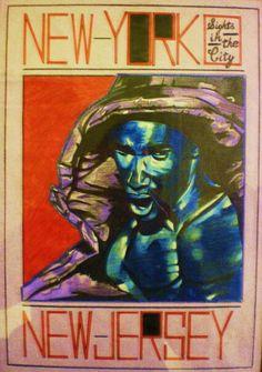 New York,  New Jersey New Jersey, Graffiti, Batman, New York, Superhero, Abstract, Illustration, Fictional Characters, Art