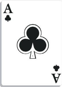 Apprendre la voyance avec jeu 32 cartes : as de trèfle
