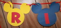 Mickey Mouse Birthday Party - Mickey Mouse Banner