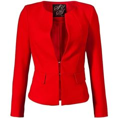 Steps blazer featuring polyvore fashion clothing outerwear jackets blazers blazer casaco coats & jackets red blazer red jacket