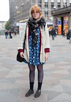Julia - Hel Looks - Street Style from Helsinki. A great scarf keeps you warm and really makes an outfit standout.