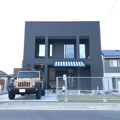 Overview/駐車場/ウッドデッキ/surf/WTW/芝生...などのインテリア実例 - 2017-10-16 03:49:50 Exterior Design, Fence, My House, Facade, Building A House, California, Jeep, Outdoor, Home Decor