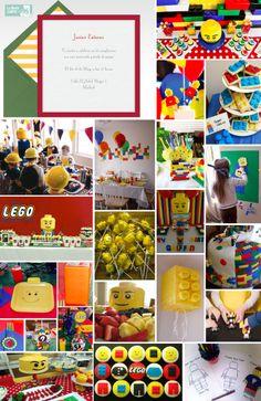 Invitaciones de cumpleanos, invitaciones para cumpleanos, cumpleanos de Lego, fiesta de Lego