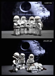 Partytroopers - Happy new year by designholic* | LEGO Star Wars Clone Trooper , Stormtrooper , Scout Trooper & Snowtrooper Minifigs