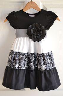 Little Quail: Little girls simple dress 4 way's