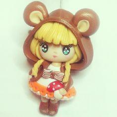 "449 Likes, 13 Comments - Daniela Pupa (@danielapupa) on Instagram: ""#lovely #bear #doll #handmade #polymerclay #fimo #cernit #cute #kawaii #kawaiioftheday #danielapupa…"""