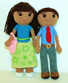 Caleb and Sophia in their Meeting Clothes crochet pattern