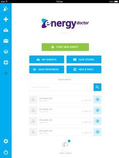 iPad app UI design for Energy Impact.