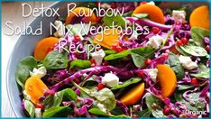 Detox Rainbow Salad Mix Vegetables Recipe which is healthy for body Mix Vegetable Recipe, Vegetable Salad, Vegetable Recipes, Best Detox Foods, Healthy Detox, Liver Detox Juice, Low Fiber Foods, Rainbow Salad, Recipe T