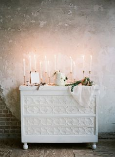 Dessert Table with Taper Candles | photography by http://www.leighanneherr.com/