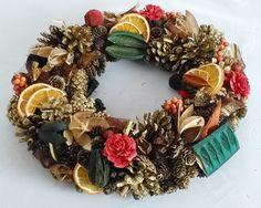 Stroik bożonarodzeniowy na stół  #Christmasdecoration  #wreath #pinecone