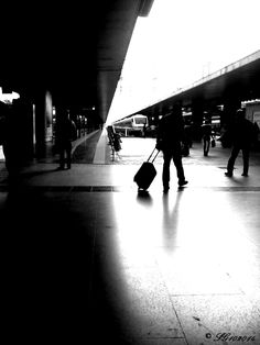 Traveler, Termini station, Rome