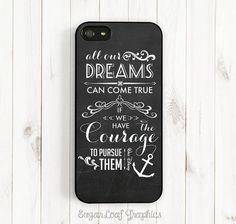 Dream Quote iPhone Case, Walt Disney Quote on Chalkboard, All Dream Can Come True, iPhone 5C/5S/5/4S, Phone Cover, Samsung Galaxy S3 S4 Qt09 on Etsy, $15.95