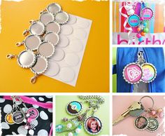 Fizzy Pops DIY Bottle Cap Zipper Charm Kit of 25 - Great for Primary, YW or RS activities or gifts- instructions provided!