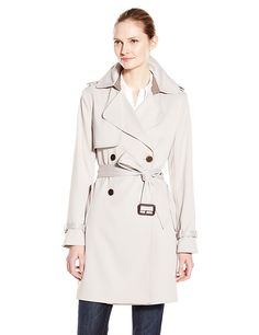 Vera Wang Women's Valencia Double Breasted Trench -- Read more  at the image link.