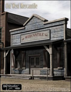 """Old West Mercantile 3D Building Model...this is the style I want for my gym and craft """"sheds"""""""