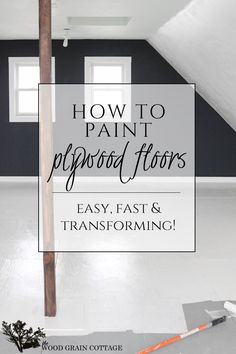 How To Paint Plywood Floors by The Wood Grain Cottage @woodgraincottge