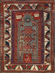 Kazak Rug - Circa: 1875 Sizes: 3.6X4.4
