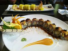 Angry Dragon Roll & Mummy Roll Temari Sushi, Dragon Roll, Japanese Sushi, Rolls, Ethnic Recipes, Food, Kitchens, Buns, Essen