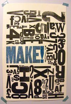 letterpress poster - Pesquisa Google