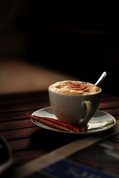 ~ Autumn ~ Sifted Cinnamon on Latte mornings . . .
