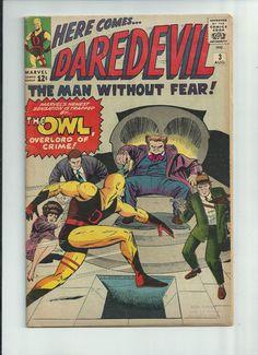 DAREDEVIL #3 Silver Age find! First Owl appearance!! ~COOL~ http://r.ebay.com/HmtTN0