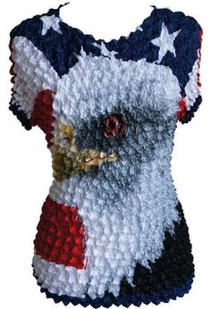 Polyester Animal Print Regular Size Tops & Blouses for Women Blue Popcorn, Popcorn Shirts, Red White Blue, Shirt Blouses, Blouses For Women, Christmas Stockings, Eagle, Usa, Sleeve