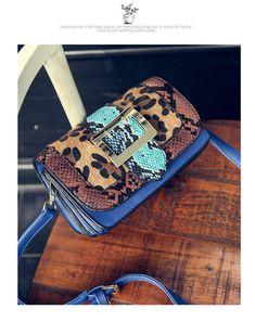 1b5aad3d607d |Осенняя коллекция 2016 года Пряжка Crossbody сумки для Для женщин корова  змеиная кожа PU змея дизайнер сумки на плечо высокое качество Для женщин ...