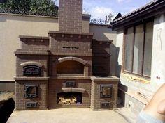 Barbecue Garden, Outdoor Barbeque, Backyard Barbeque, Outdoor Oven, Bbq Grill, Rustic Pergola, Gazebo Pergola, Outdoor Kitchen Plans, Outdoor Kitchen Design