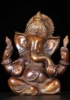View the Brass Adorable Ganesh Statue 5.5""