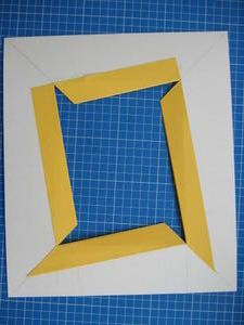 Le biseau perroquet : explications - le blog articadre Origami, Triangle, Diy Projects, Blog, Frame, Crafts, Painting, T5, Portrait Frames