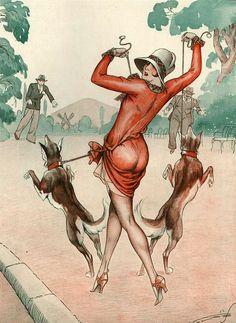 Illustration by Vald 'Es For La Vie Parisienne 1927