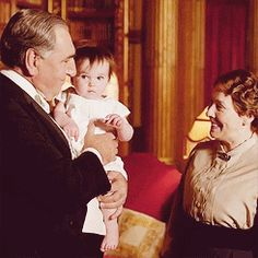 Baby Sybil  | More Downton Abbey photos here:  http://mylusciouslife.com/historical-style-downton-abbey-photos/