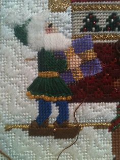 steph's stitching: This is the way to Amy's House Needlepoint Designs, Needlepoint Stitches, Embroidery Stitches, Needlepoint Christmas Stockings, Amy, Stitching, Winter Hats, About Me Blog, Tapestry