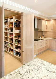 walkable in pantry dimensions accessible in pantry dimensions accessible in pantry shelves walk in pantry dimensions walk in pantry walk in pantry shelving dimensions - Own Kitchen Pantry Kitchen Pantry Design, Kitchen Pantry Cabinets, Kitchen Organization Pantry, Kitchen Interior, New Kitchen, Kitchen Storage, Kitchen Decor, Kitchen Ideas, Kitchen With Pantry