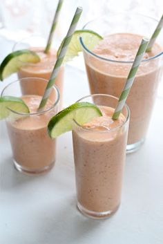 I love tropical flavors - Papaya and Coconut Smoothie