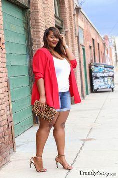 RED BLAZE Trendy Curvy waysify