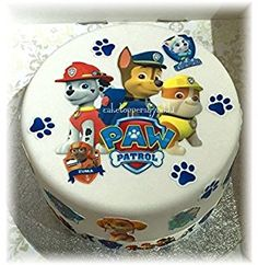 step by step chase paw patrol cake topper Paw Patrol Torte, Paw Patrol Cake Toppers, Cake Frosting Designs, Cake Designs, Paw Patrol Birthday Theme, Truck Birthday Cakes, Cake Piping, Cake Templates, Just Cakes