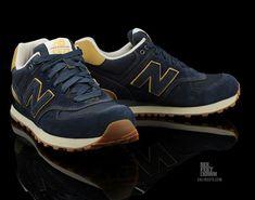 New Balance 574 – Navy/Tan – White