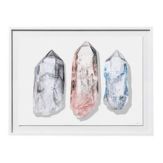 Timothy Hogan Three Crystals Photographs ($299) ❤ liked on Polyvore featuring home, home decor, wall art, photo shadow box, photo wall art and shadow box