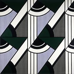 A sampling of modular paintings by Roy Lichtenstein