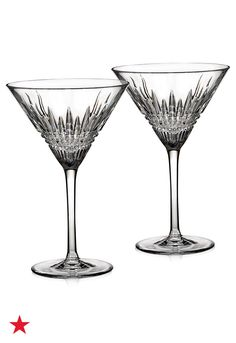 Is your wedding registry ready to party? Prepare for a lifetime of celebrations and register for these Waterford Lismore diamond martini glasses at macys.com.