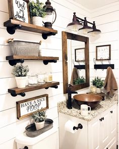 Finding storage express in a small bathroom doesn't have to be a chore. These attractive and useful shelf ideas are absolute for any size space. #bathroomshelveshomedepot, #bathroomshelvesstainlesssteel, #kohlerbathroomshelves