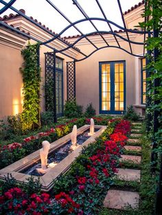 The Pergola - great idea for Les Petites' Courtyard