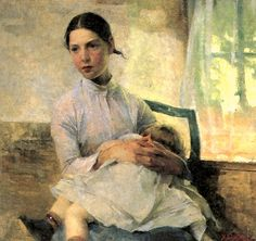 Helene Schjerfbeck (Finnish, 1862-1946). The Nursemaid, 1889