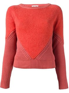 CARVEN Contrast Knit Sweater ~ Lovely Inspiration ~ I love this kind of technique where the tonal value is maintained but using a differing texture in the yarn plus the contrasted texture of the stitch. Makes for a sophisticated look nearly every time! AJ